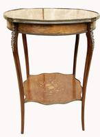 Wonderful Victorian Marquetry Occasional Table (8 of 8)