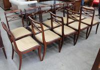 1960s -Set 10 Mahogany Sabre Leg Dining Chairs with Pop out Seats (2 of 3)
