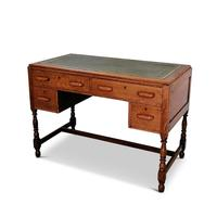 Lovely Little Vintage Desk with Green Leather Top & Drawers c.1970 (2 of 8)