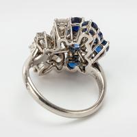 Vintage Chaumet 1.93 Carat Sapphire & 0.90 Carat Diamond Dress Ring c.1960 (2 of 9)