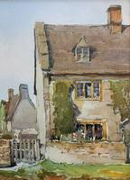 Gorgeous Early 20th Century Country River Hamlet British Landscape Watercolour Painting (10 of 12)