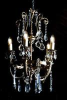 Antique Bronze French Figural 5 Light Chandelier (2 of 7)