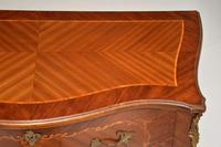 Antique French Inlaid Marquetry Bombe Chest (5 of 11)