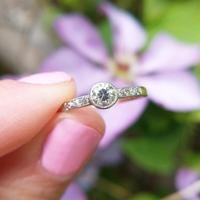 Antique 18ct Gold Diamond Solitaire Ring, Old Cut Engagement Ring (2 of 6)