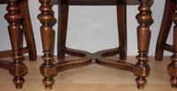 Set of Four Light Mahogany Victorian Hall Chairs (5 of 6)