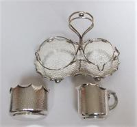 Attractive Arts & Crafts silver plated cream & sugar set (7 of 8)