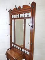 Antique Edwardian Mirror Back Hall Stand (8 of 10)