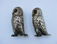 Charming Pair of Victorian EPNS Owl Pepperettes (9 of 9)