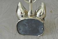 Vintage Fox & Whip Hunting Brass Door Porter Door Stop c.1950 (6 of 8)