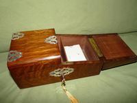 Solid Figured Oak Games Box + Accessories c.1890 (4 of 18)