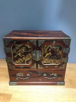Antique Oriental Lacquered Table Cabinet