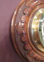 Small Antique Polished Walnut Banjo Barometer (4 of 7)