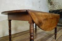 19th Century French Chestnut Circular Drop Leaf Table (5 of 10)