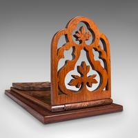 Antique Book Slide, English, Rosewood, Mahogany, Library Stand, Victorian c.1900 (11 of 12)