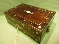 Regency Style Inlaid Rosewood Jewellery – Table Box c.1830 (11 of 11)