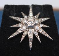 Diamond Star Pendant Set with Old Cut Diamonds (3 of 6)