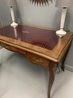 French Red Leather Top Bureau Plat (6 of 9)