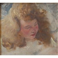 Hugo Ziegler, Study Of An Angel, Oil Painting (7 of 7)