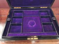 Superb Antique Burr Walnut London Jewel Box (7 of 8)