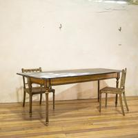 18th Century Faux Quilted Maple Painted Swedish Table (5 of 16)
