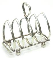 English Antique Solid Silver Heart Shaped Toast Rack, Super Design Fresh & Clean c.1920 (3 of 4)