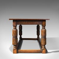 Antique Refectory Table, English, Oak, Dining, Jacobean Revival, Edwardian c.1910 (3 of 12)