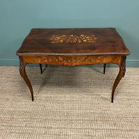 Stunning Large 19th Century Kingwood Antique Writing Table (7 of 8)