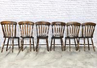 Matched Set of Six Victorian Windsor Lathback Chairs (5 of 8)