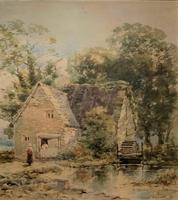 William Charles Goddard Near Saltash Cornish Landscape Painting (3 of 14)