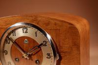 Art Deco Black Forest Very Stylish Walnut Mantel Clock c.1940 (5 of 8)