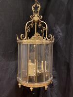 Pair of French Triple Light Circular Lanterns (2 of 11)