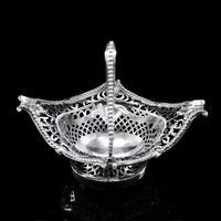 Antique Victorian Small Silver Sweet Basket / Bonbon Dish - Charles Stuart Harris 1890 (7 of 14)