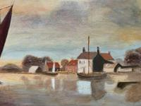 Contemporary, British School - Sailing on the Estuary - Seascape Oil Painting (8 of 11)