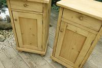 Fab! Two Matching 'will split' Old Pine Bedside Cabinets - We Deliver! (3 of 8)