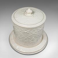 Antique Stilton Dome, English, Ceramic, Cheese Keeper, Cracker Plate, Victorian (5 of 12)