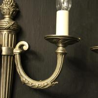 French Set of 4 Silver Gilded Antique Wall Lights (4 of 10)