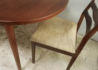 1960's Mid Century Danish Extending Dining Table with 4 dining chairs (7 of 7)