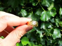 0.75ct Diamond & 18ct Yellow Gold Gent's Solitaire Ring - Antique French c.1910 (2 of 9)