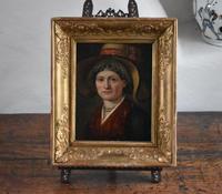 """Swiss School Portrait c1800 Inscribed """"Johann Biedermann 1763-1830"""" (4 of 9)"""