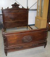 1900's King Size Carved Oak Empire Style Bed Frame (2 of 4)