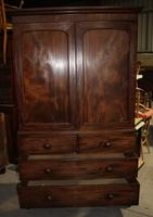 1890's Quality Mahogany Linen Press with Slides (2 of 5)