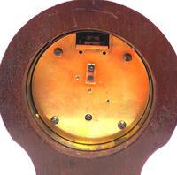 Fine Mahogany Edwardian Lancet Clock Burr Walnut Inlay Timepiece Mantel Clock (8 of 9)