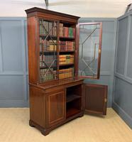 Good Edwardian Inlaid Mahogany Bookcase (14 of 16)