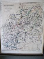 19th Century Fox-hunting Map of Gloucestershire by J & C Walker (2 of 4)