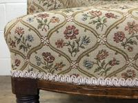 Victorian Three Piece Suite with Gold Floral Upholstery (9 of 26)