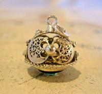 Vintage Pocket Watch Chain Silver Fob 1950s Victorian Revival Amethyst Stone Fob (6 of 10)