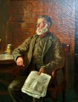 BAD NEWS FROM THE WAR! 'Walter Tomlinson' Portrait Oil Painting (14 of 16)