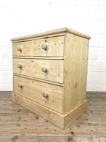 Rustic Antique Pine Chest of Drawers (6 of 10)