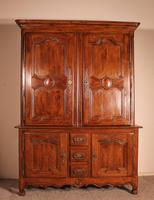 Louis XV Deux Corps/ Buffet/Cupboard In Oak From The 18th Century - Picardie-France