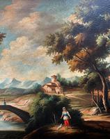 Substantial! Original Italian Landscape Oil by Follower of 17th Century Gaspard Dughet (9 of 15)